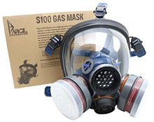 Load image into Gallery viewer, PD-100 Full Face Organic Vapor Respirator – Full Manufacturer Warranty – ASTM Certified – Double N95 Activated Charcoal Air filter – Eye Protection – Industrial Grade Quality - SHTFSTOCKPILE.COM