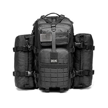 Load image into Gallery viewer, CRAZY ANTS Military Tactical Backpack Waterproof Outdoor Gear for Camping Hiking,Black + 2 Detachable Packs (Black + 2 Packs) - SHTFSTOCKPILE.COM