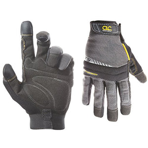 CLC Custom Leathercraft 125M Handyman Flex Grip Work Gloves, Shrink Resistant, Improved Dexterity, Tough, Stretchable, Excellent Grip,Medium - SHTFSTOCKPILE.COM