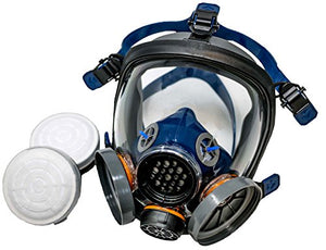 PD-100 Full Face Organic Vapor Respirator – Full Manufacturer Warranty – ASTM Certified – Double N95 Activated Charcoal Air filter – Eye Protection – Industrial Grade Quality - SHTFSTOCKPILE.COM