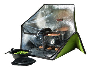 Sunflair Portable Solar Oven Deluxe with Complete Cookware, Dehydrating Racks and Thermometer - SHTFSTOCKPILE.COM