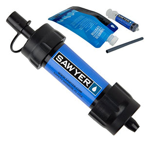 Sawyer Products SP128 MINI Water Filtration System, Single, Blue - SHTFSTOCKPILE.COM