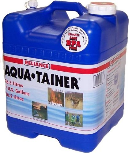 Reliance Products Aqua-Tainer 7 Gallon Rigid Water Container - SHTFSTOCKPILE.COM
