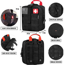 Load image into Gallery viewer, EVERLIT 250 Pieces Survival First Aid Kit IFAK Molle System Compatible Outdoor Gear Emergency Kits Trauma Bag for Camping Boat Hunting - SHTFSTOCKPILE.COM
