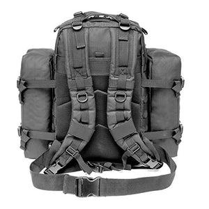 CRAZY ANTS Military Tactical Backpack Waterproof Outdoor Gear for Camping Hiking,Black + 2 Detachable Packs (Black + 2 Packs) - SHTFSTOCKPILE.COM