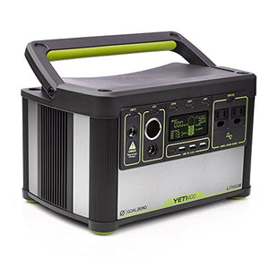 Goal Zero Yeti 400 Lithium Portable Power Station, 428Wh Rechargeable Generator and Backup Power Source with 300 Watt (1200 Watt Surge) AC inverter, USB, 12V Outputs - SHTFSTOCKPILE.COM