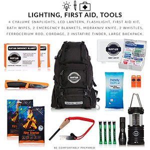 Premium Emergency Survival Bag/Kit – Be Equipped with 72 Hours of Disaster Preparedness Supplies for 2 People - SHTFSTOCKPILE.COM