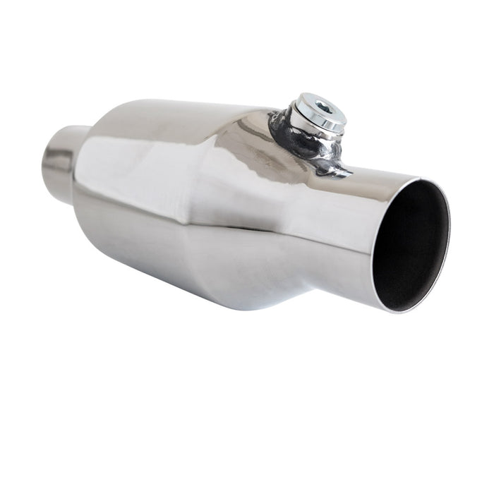 "2"" inch 100 Cell Bullet High Flow Cat Converter Cat Converter - Stainless 280mm"