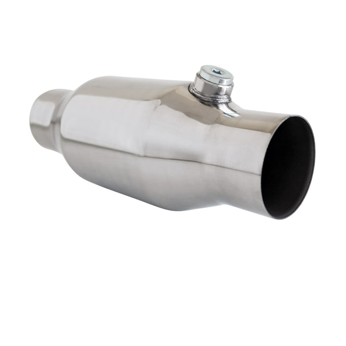 "2.5"" inch 200 Cell Bullet High Flow Cat Converter Cat Converter - Stainless 280mm"