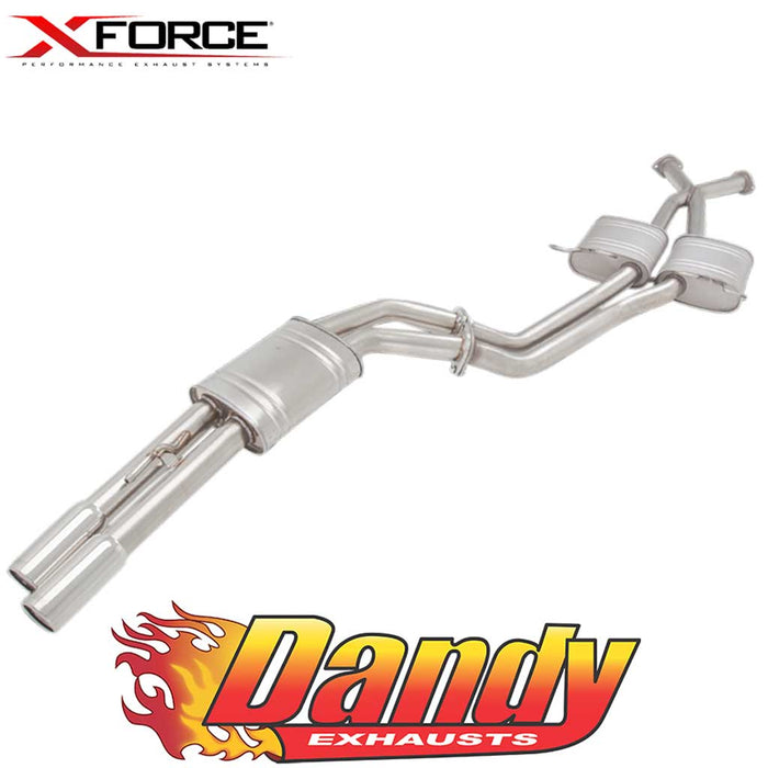 "Holden Commodore VT VX VY VZ V8 Ute XFORCE Twin 3"" Catback Exhaust - Polished SS"