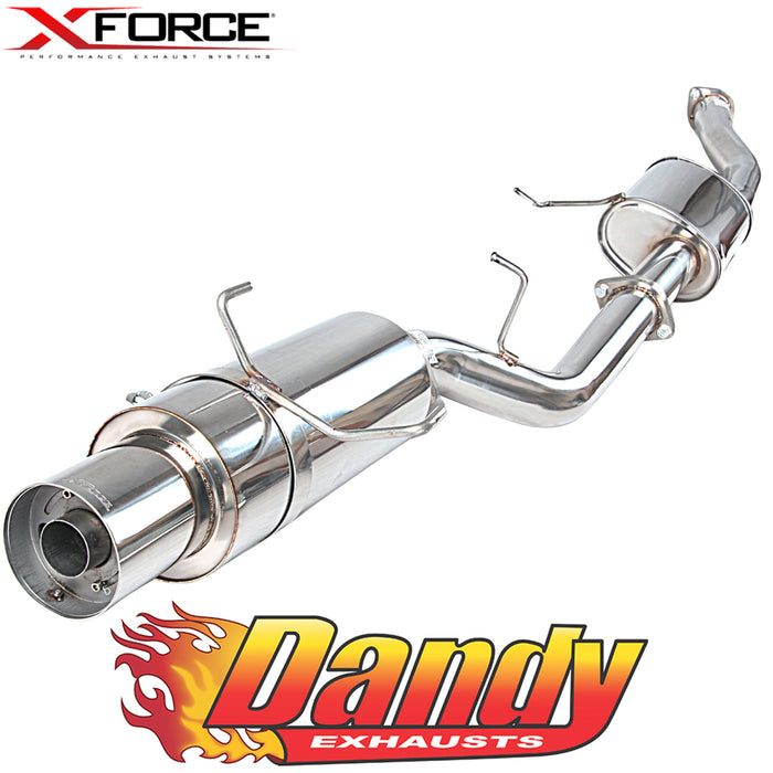 "Nissan 180SX S13 XFORCE 3"" Catback Exhaust with Angle-Out Cannon - Raw 409"