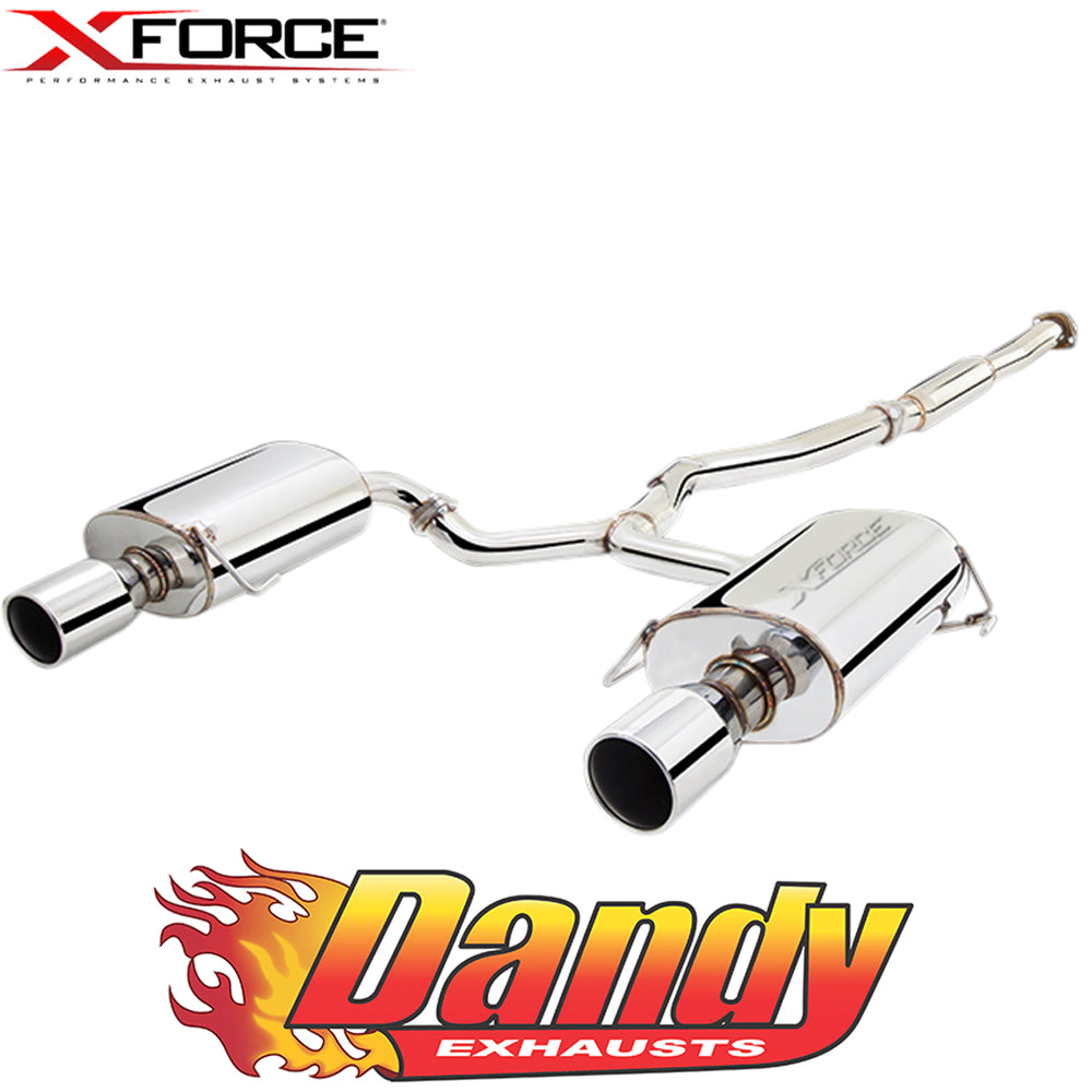 "Subaru Liberty 2.5L Non Turbo 2004-09 XFORCE 2.25"" Catback Exhaust - Polished SS"
