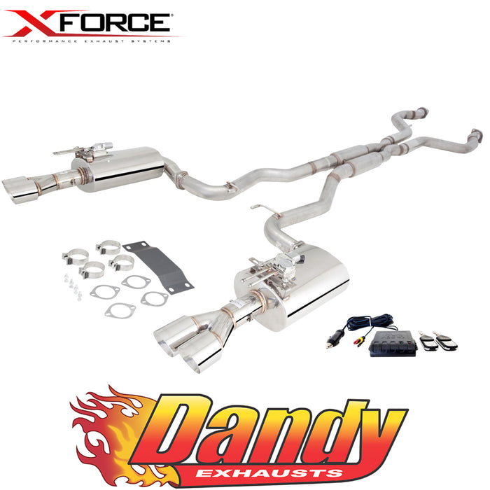 "Holden Commodore VE VF V8 Ute XFORCE Twin 3"" Catback Exhaust Varex Rears - Raw 409"