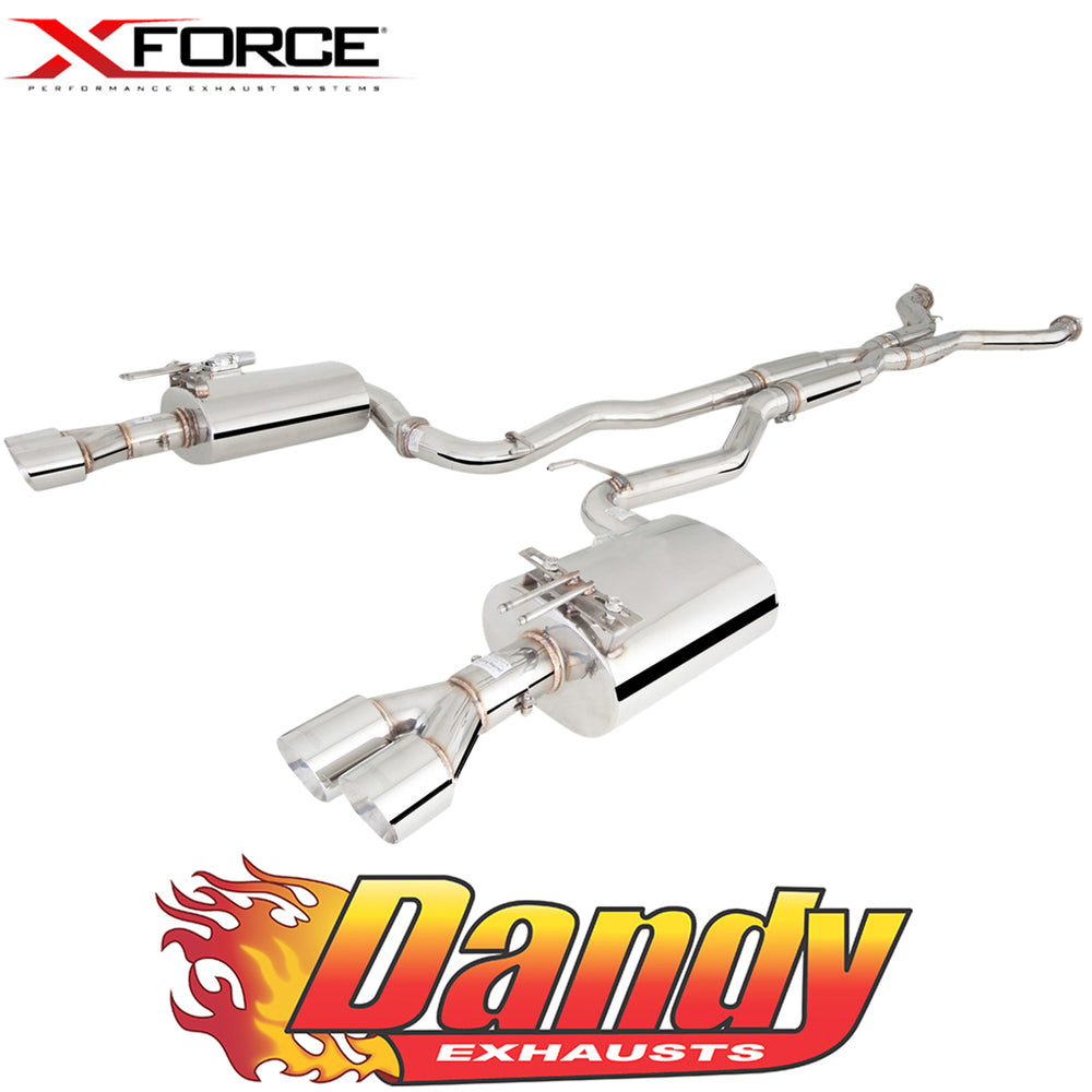 "Holden Commodore VE VF Ute XFORCE Twin 2.5"" Catback Exhaust - Polished SS"