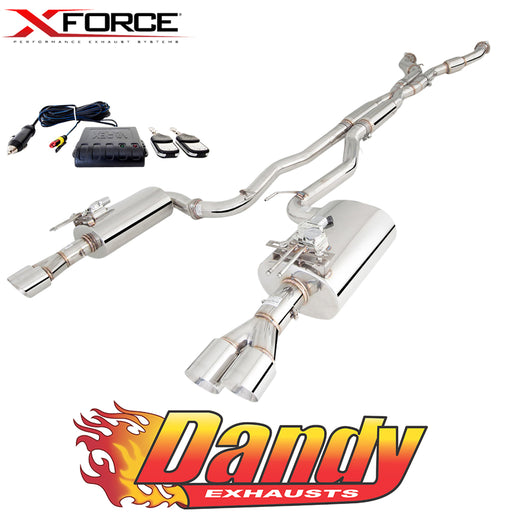 "Holden Commodore VE VF V8 Ute XFORCE Twin 3"" Catback Exhaust Varex Rears - Polished SS"