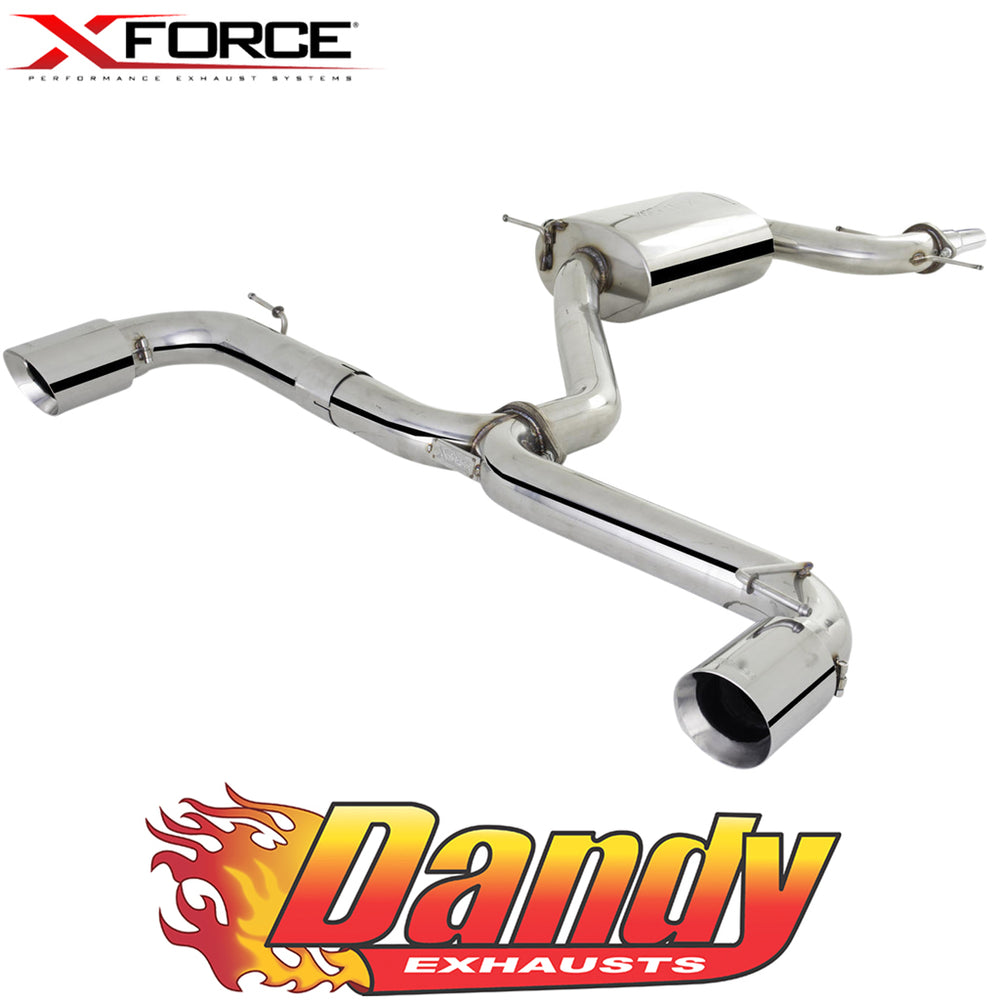"Volkswagen Golf GTI MK6 XFORCE 3"" Catback Exhaust with Varex Centre - Polished SS"
