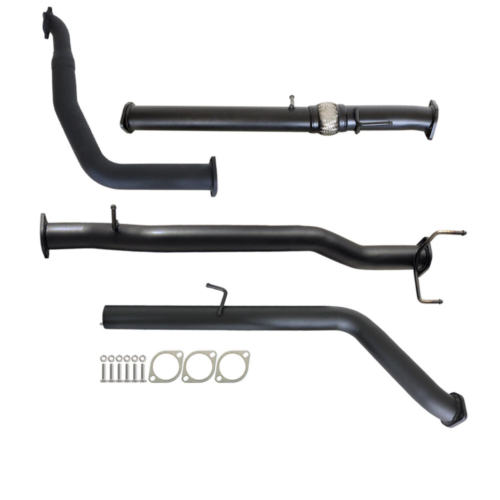 PJ PK Ford Ranger 2.5L & 3L Auto 3 inch Turbo Back Exhaust With Pipe Only