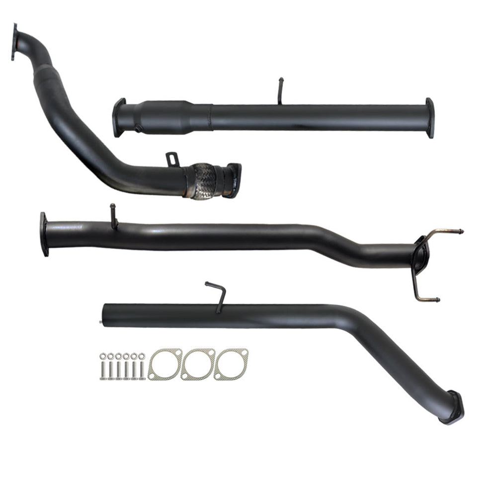 PJ PK Ford Ranger 2.5L & 3L Manual 3 inch Turbo Back Exhaust With Cat No Muffler