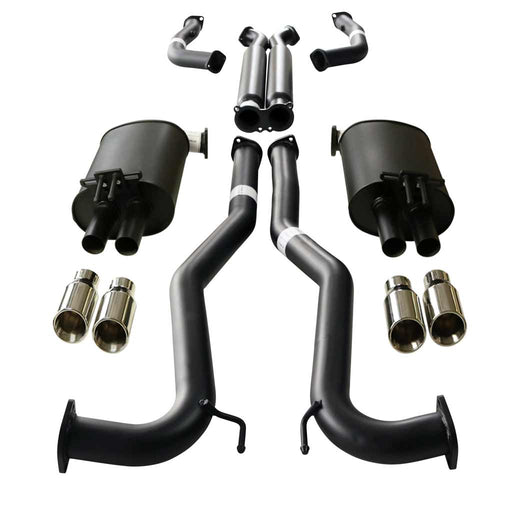 "Holden Commodore VE VF V8 Sedan & Wagon Twin 3"" Catback Exhaust - Angle Cut Tips"