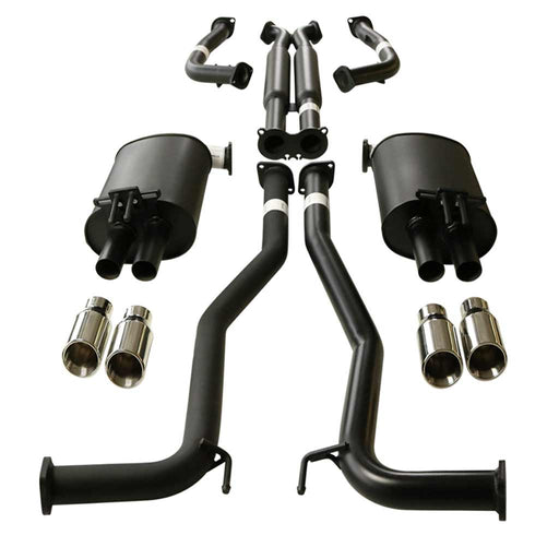 Holden Commodore VE VF Sedan and Wagon Twin 2.5 inch Catback Exhaust With Angle Tips
