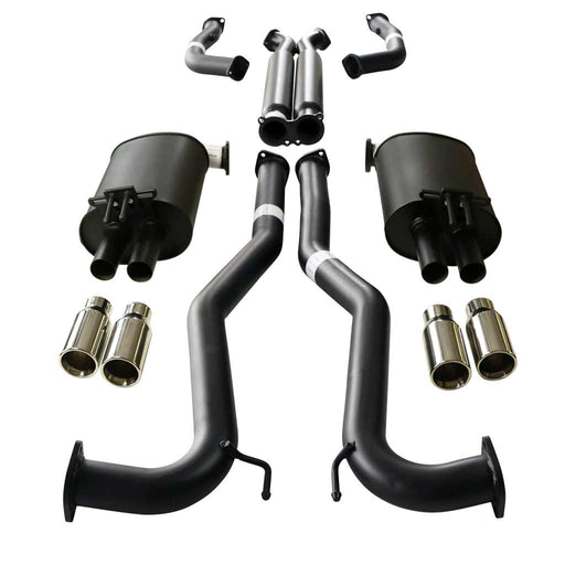 "Holden Commodore VE VF V8 Sedan & Wagon Twin 3"" Catback Exhaust - Straight Cut Tips"