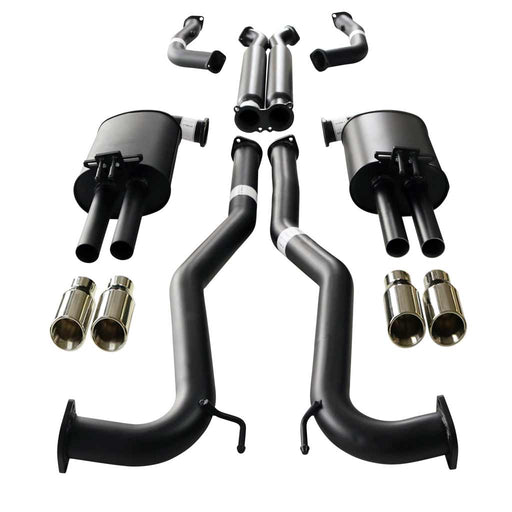 "Holden Commodore VE VF V8 Ute Twin 3"" Catback Exhaust - Angle Cut Tips"