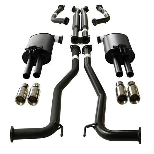 Holden Commodore VE VF Ute Twin 2.5 inch Catback Exhaust With Angle Tips