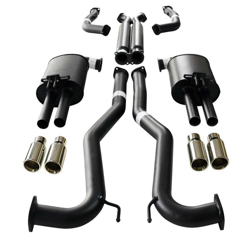 "Holden Commodore VE VF V8 Ute Twin 3"" Catback Exhaust - Straight Cut Tips"