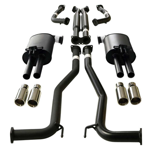 Holden Commodore VE VF Ute Twin 2.5 inch Catback Exhaust With Straight Cut Tips
