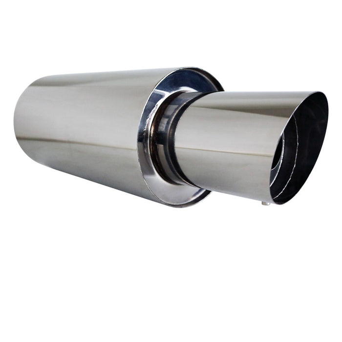 "Stainless Exhaust Cannon Round - 2.25"" Inlet & 4.5"" Outlet - Angle Cut Tip"
