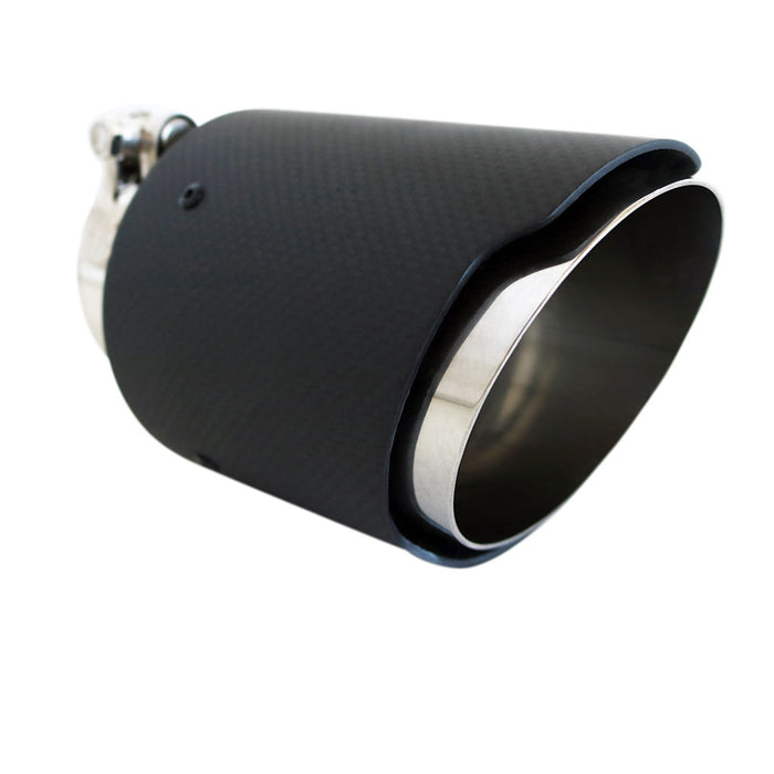 "Exhaust Tip Angle Cut 2.5"" In - 3.5"" Out 5.5"" Long Carbon Fibre"