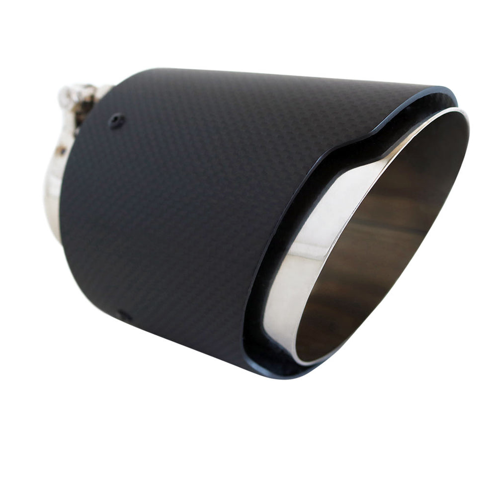 "Exhaust Tip Angle Cut 2.5"" In - 4.5""  Out 5.5"" Long Carbon Fibre"