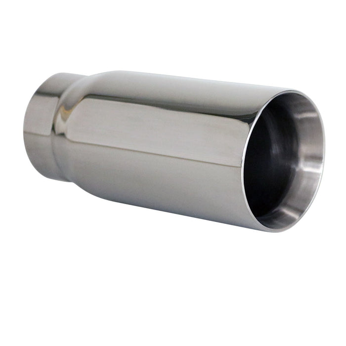 "Exhaust Tip Straight Cut Inner Cone 2.5"" In - 3"" Out 6.5"" Long 304 Stainless"