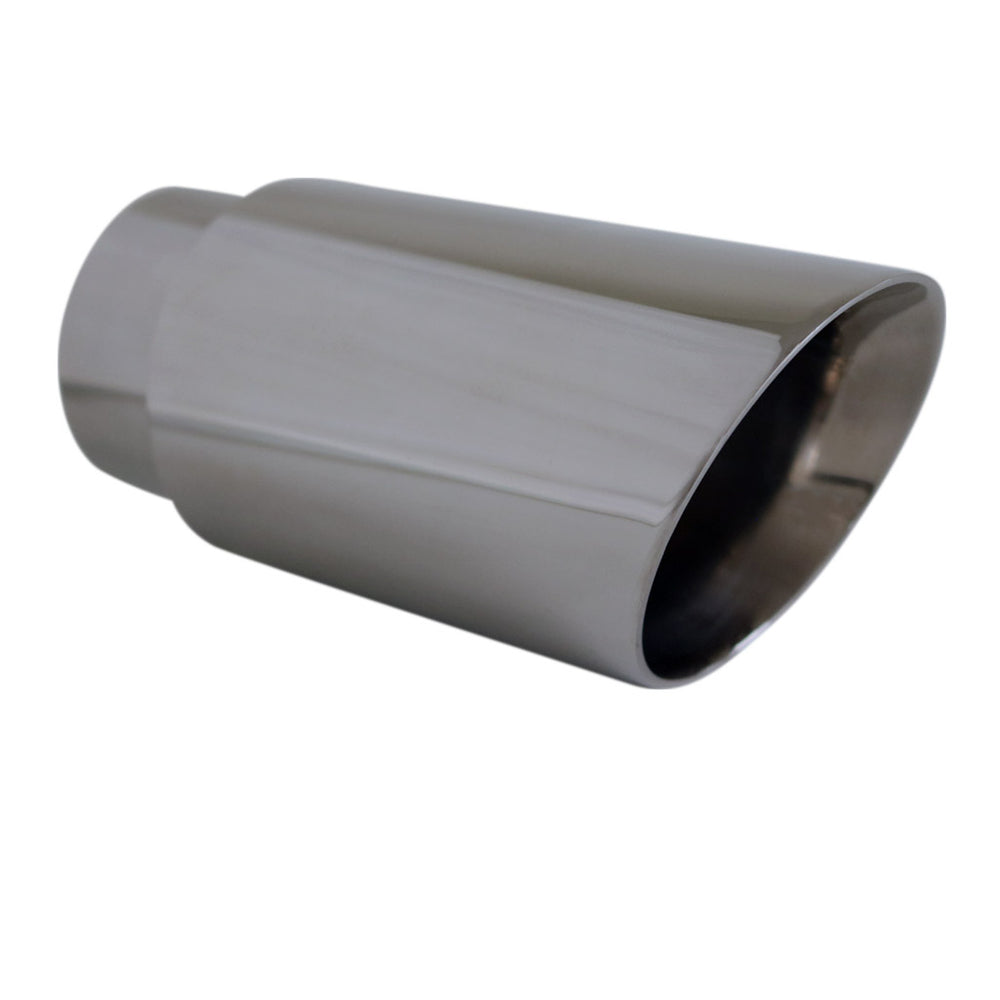 "Exhaust Tip Angle Cut Inner Cone 2.5"" In - 3"" Out 6.5"" Long 304 Stainless Steel"