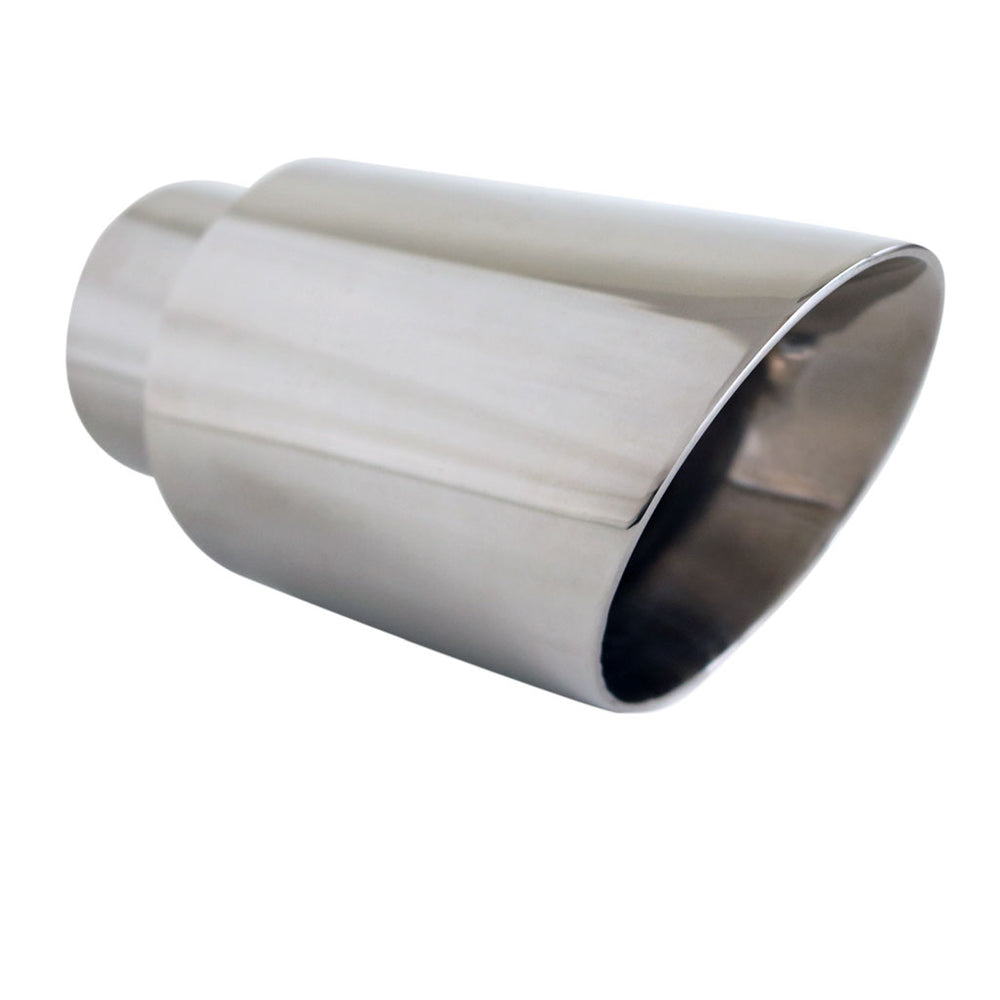 "Exhaust Tip Angle Cut Inner Cone 2.5"" In - 3.5"" Out 6.5"" Long 304 Stainless Steel"