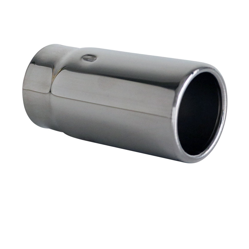 "Exhaust Tip Straight Cut Rolled In 2.25"" In - 2.5"" Out 5"" Long 304 Stainless"