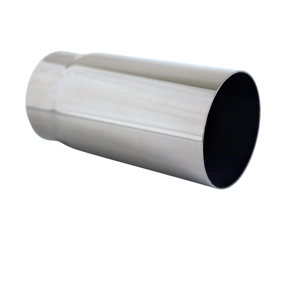 "Exhaust Tip Straight Cut 2.25"" In - 2.5"" Out 5"" Long 304 Stainless Steel"