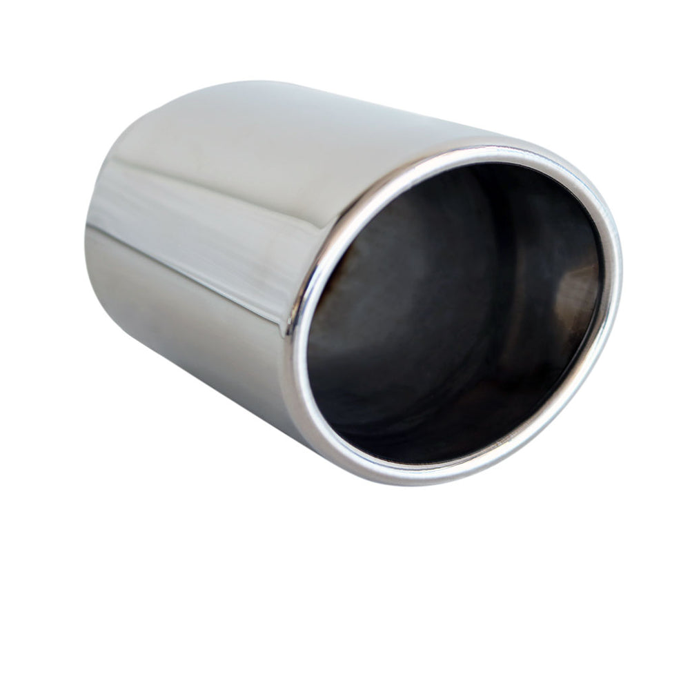 "Exhaust Tip Oval VQ 2.5"" In 92mm x 110mm Out 6 1/2"" Long 304 Stainless Steel"