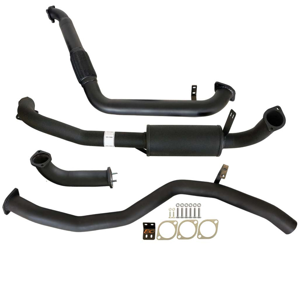 80 Series Toyota Landcruiser 4.2L 1HZ DTS 3 inch Turbo Back Exhaust With Muffler