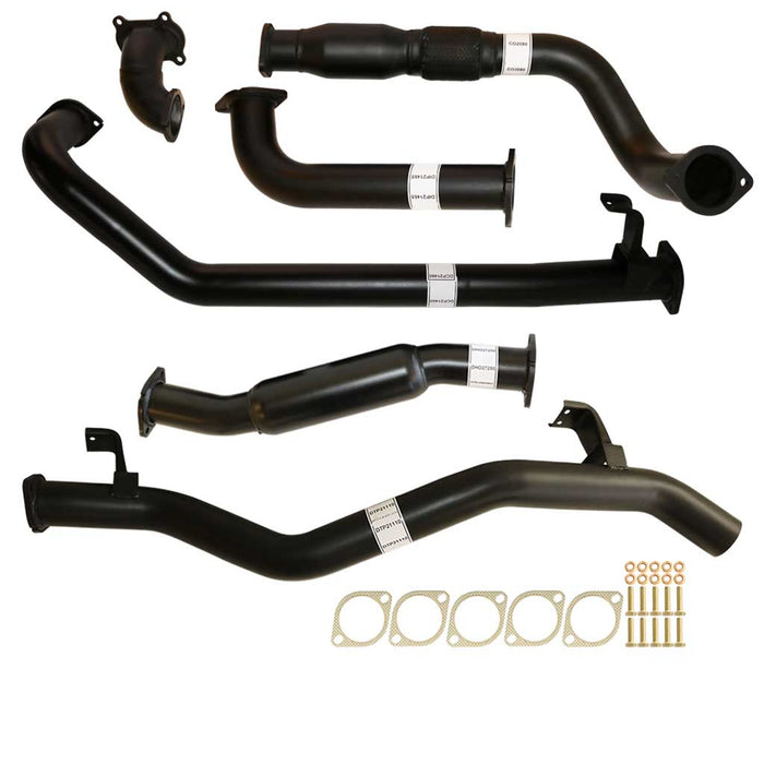 "Toyota Landcruiser 79 Series 1HD-FTE 4.2L Single Cab Ute 3"" Turbo Back Exhaust With Cat & Hotdog"