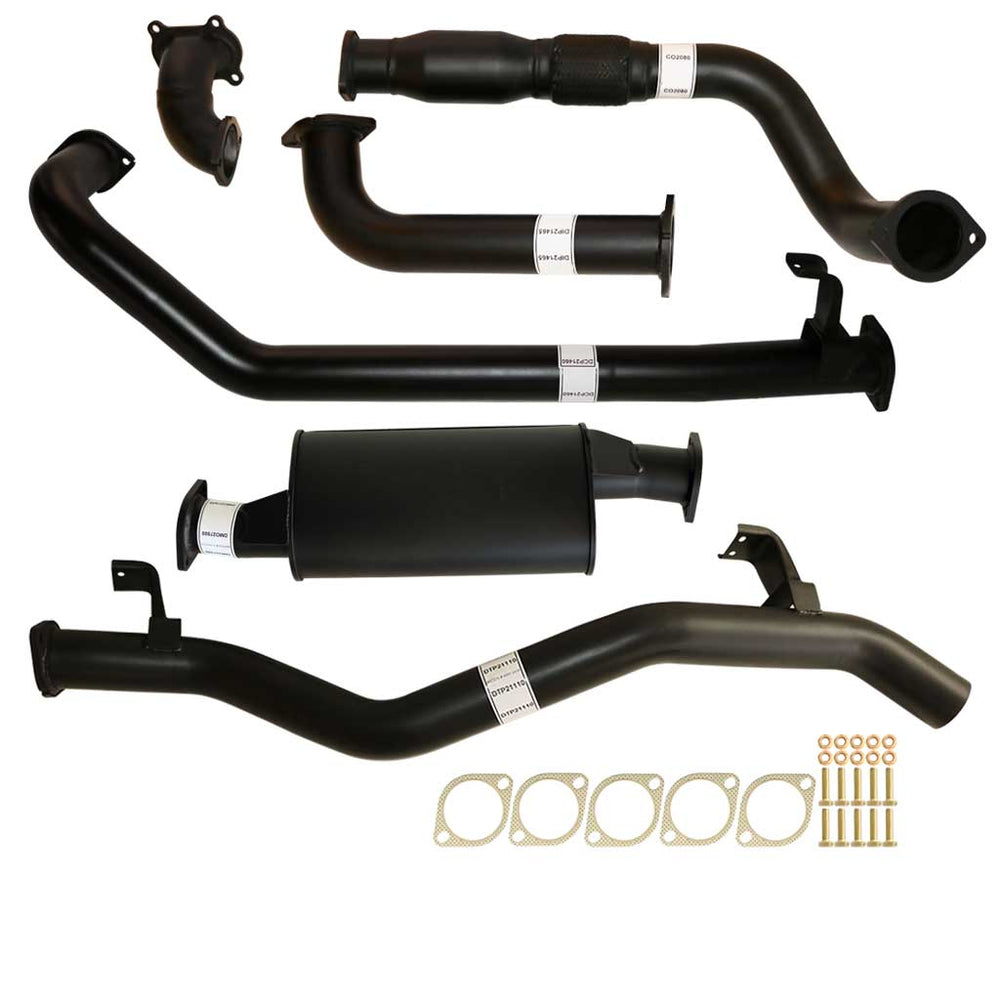 "Toyota Landcruiser 79 Series 1HD-FTE 4.2L Single Cab Ute 3"" Turbo Back Exhaust With Cat & Muffler"