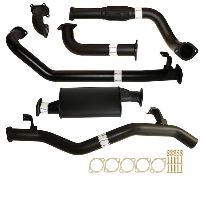 "Toyota Landcruiser 79 Series 1HD-FTE 4.2L Single Cab Ute 3"" Turbo Back Exhaust Muffler No Cat"