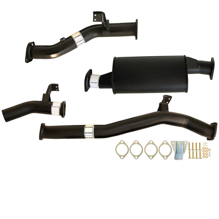 76 Series Landcruiser Wagon V8 MY17 3 inch DPF Back Exhaust With Muffler
