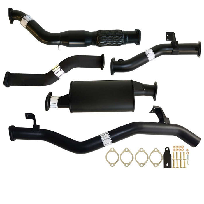 Toyota Landcruiser 79 Series VDJ79 V8 MY17 3 inch Turbo Back Exhaust With Cat & Muffler