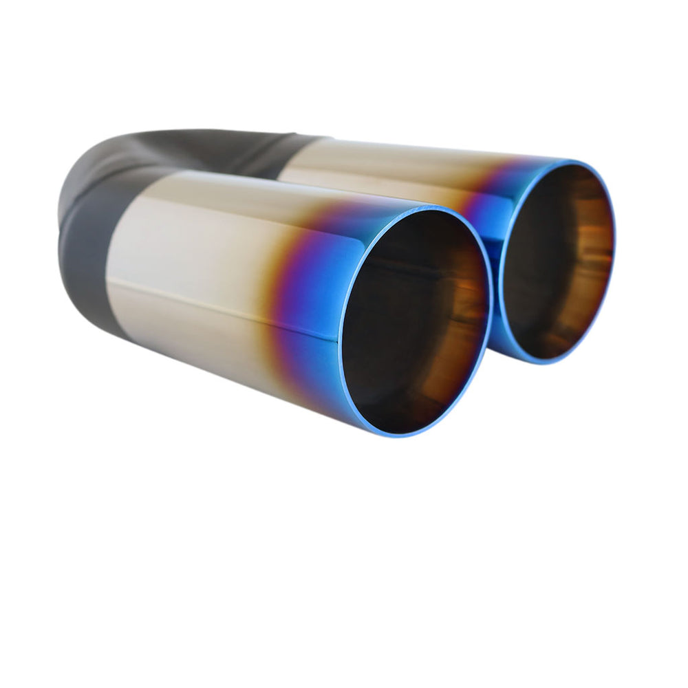 "Exhaust Tip Straight Cut Inner Cone 2.25"" In - Dual 3"" Out 9"" Long Blue Flame"