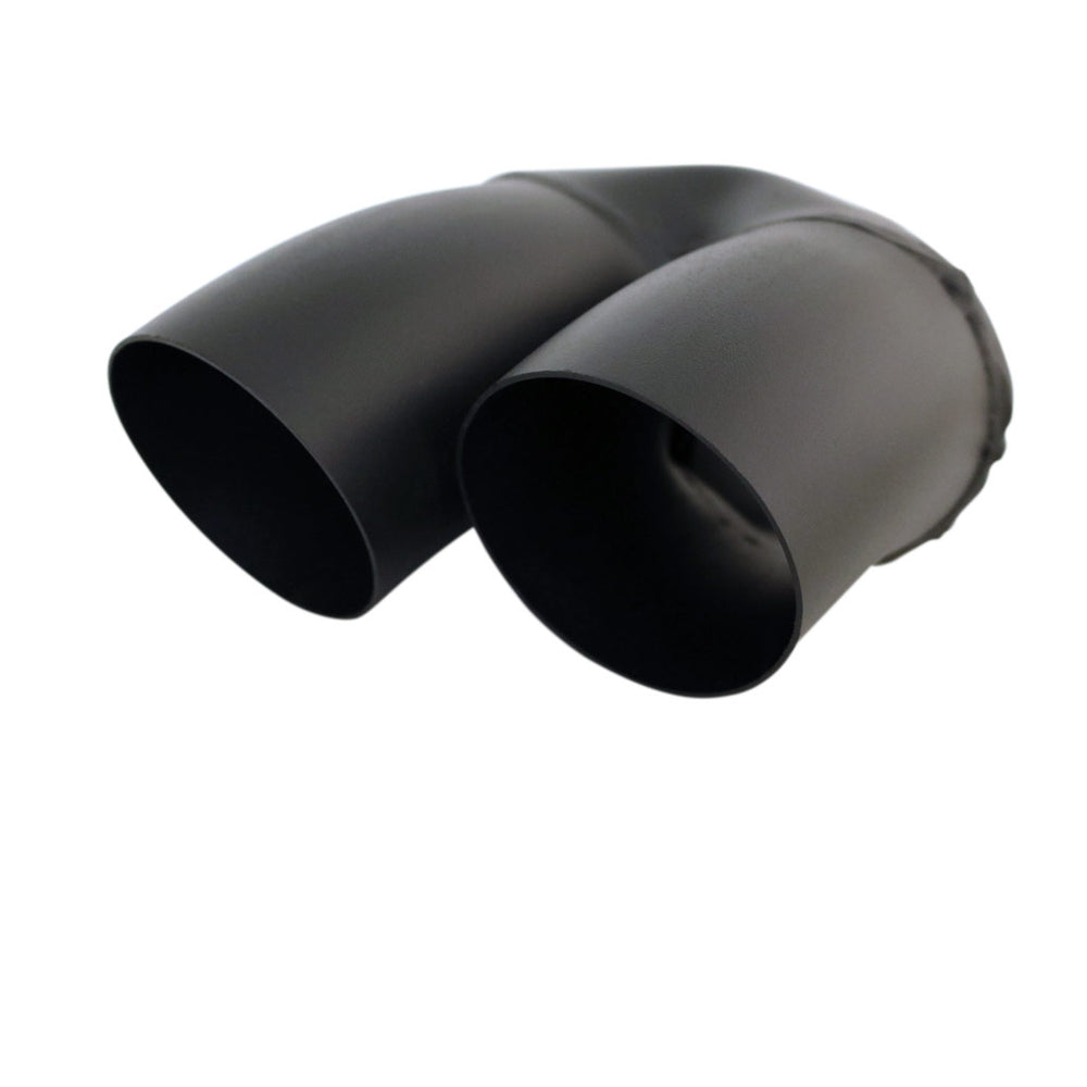 "Exhaust Tip Dump Pipe 2.25"" In - Dual 3"" Out 9"" Long RHS Matte Black"