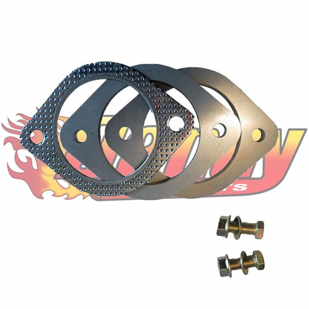 Exhaust Flange Plates 76Mm 3 Inch With Gaskets & Nuts & Bolts 105Mm Bhc 10Mm - DandyExhaust