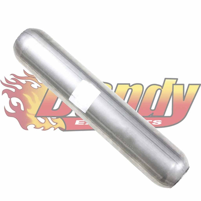 Hotdog Muffler Perforated 2 Inch In & Out & 12 Inch Long With Fiberglass Packing - DandyExhaust