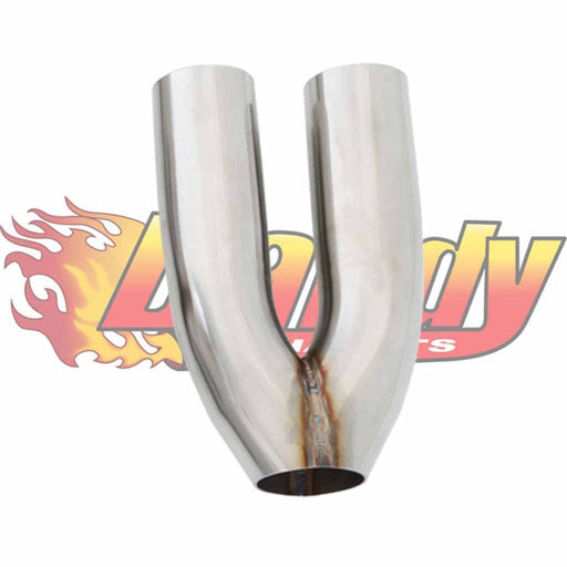 Stainless Steel Y Merge Exhaust Pipe Dual 2.5 Inch 63Mm Single 2.5 Inch 63Mm - DandyExhaust