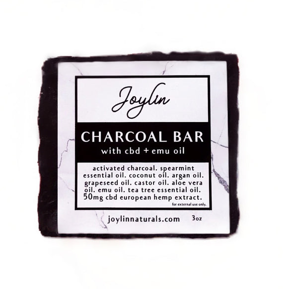 Charcoal CBD Emu Soap Bar